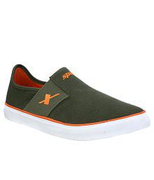 Sparx Green Canvas Shoes Art ASM214OLVORANGE