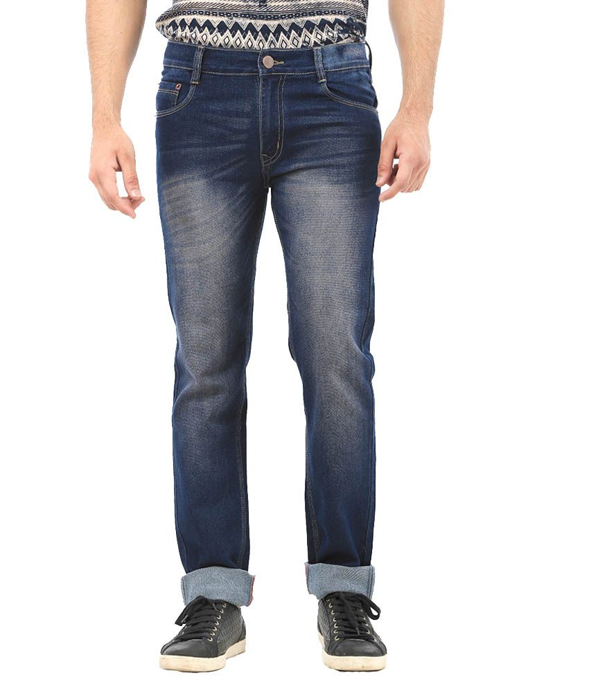 AVE Blue Regular Fit Jeans