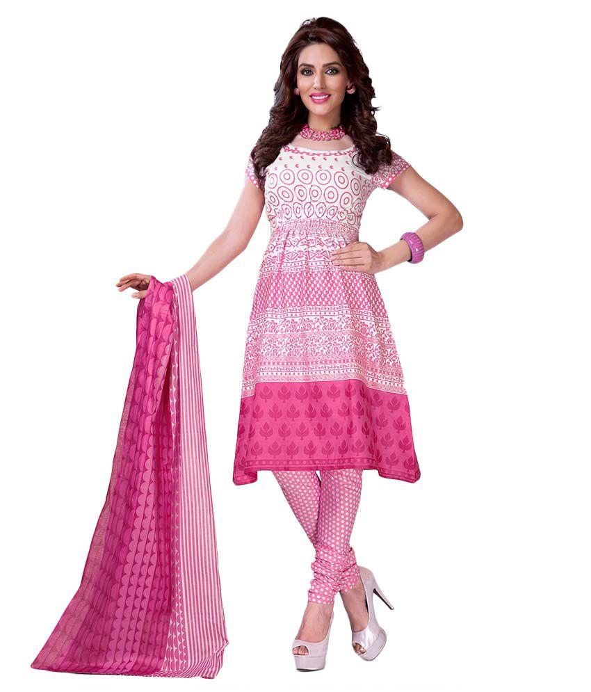c38d85536a Destiny Enterprise White and Pink Cotton Pakistani Suits Unstitched Dress  Material - Buy Destiny Enterprise White and Pink Cotton Pakistani Suits  Unstitched ...