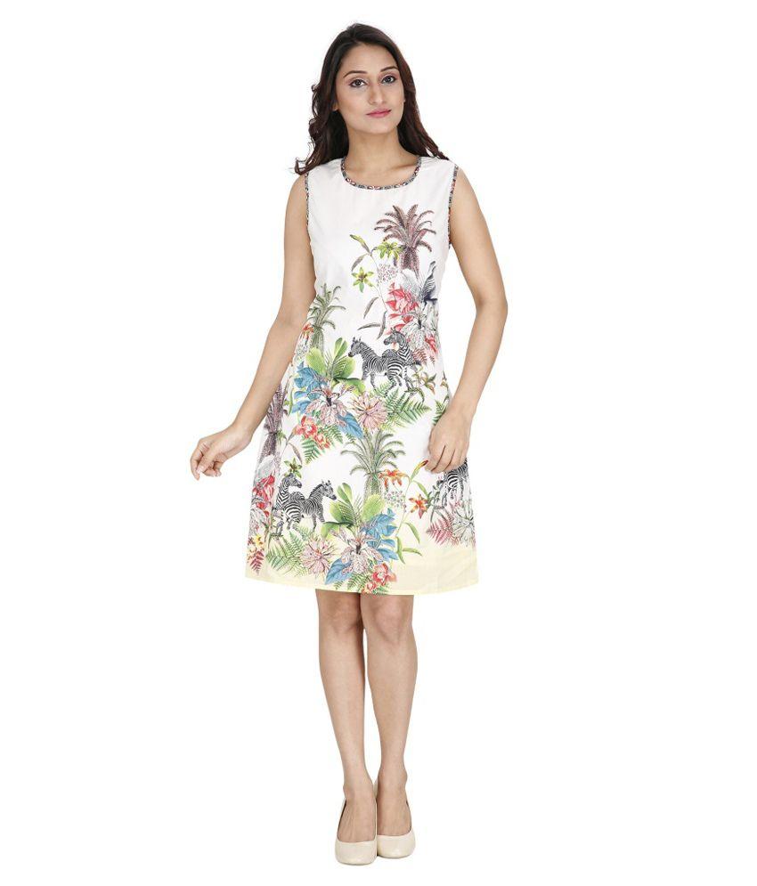 Svt Ada Collections White Cotton Dresses