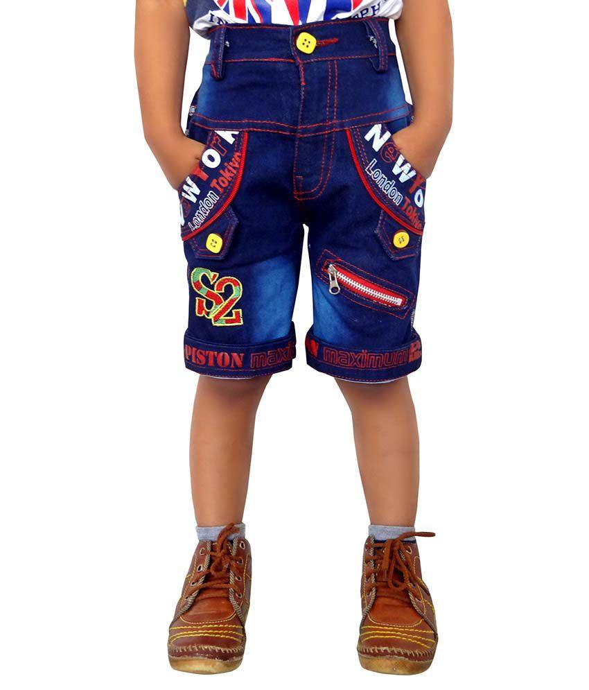 AD & AV Blue Shorts For Boys