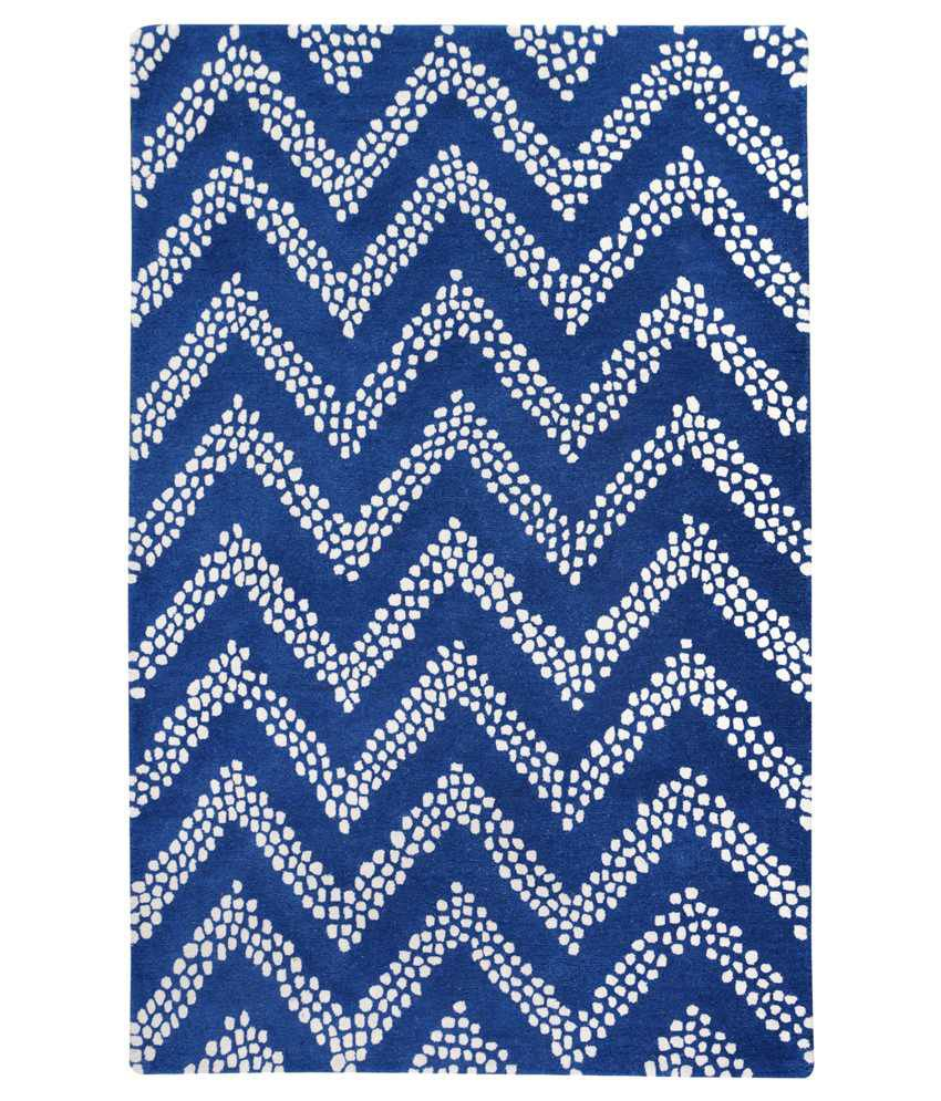 Atrisanto black and white wool crumple rug best price in for Black and white wool rug