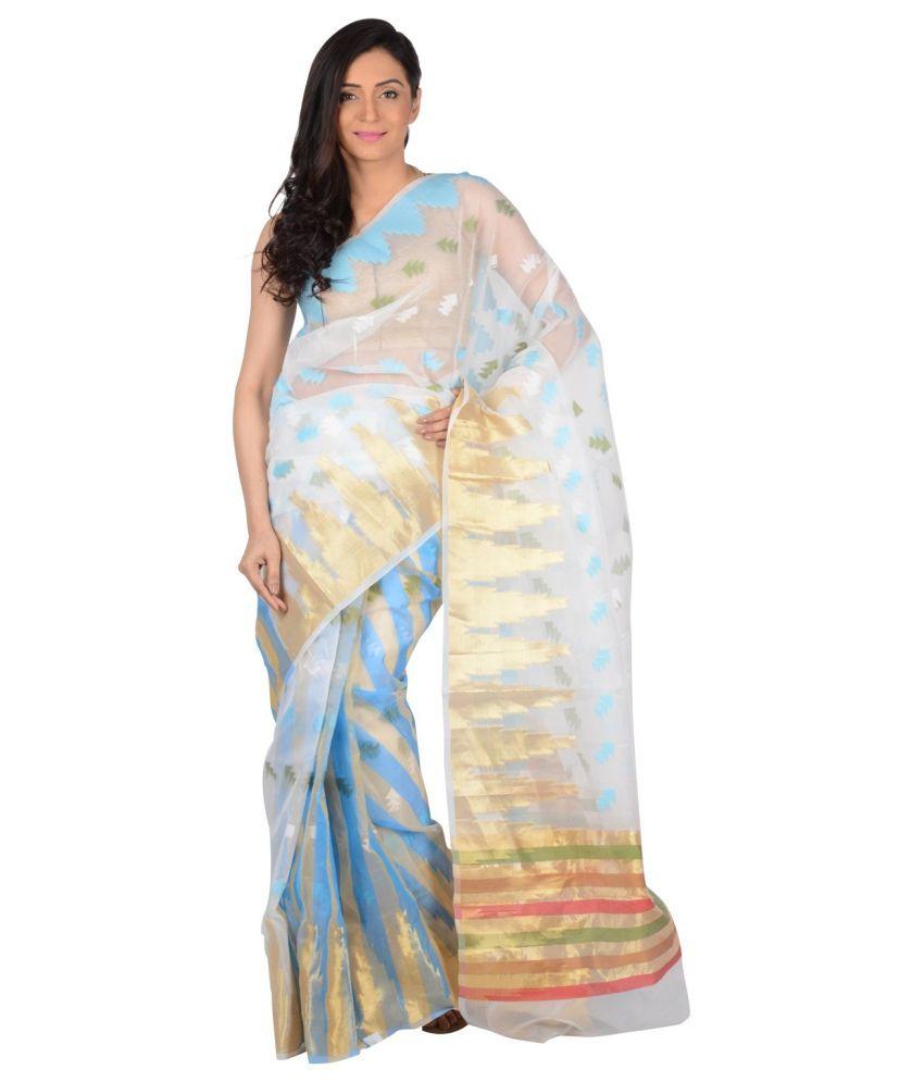 Mira's Fashion Blue Silk Saree