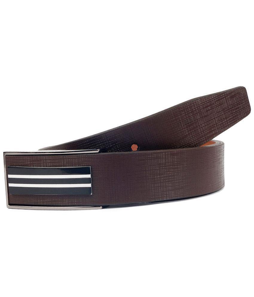 Waist Wire Brown Leather Belt for Men