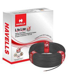 Havells PVC Insulated Core Cable - 4MM (Pack Of 2)