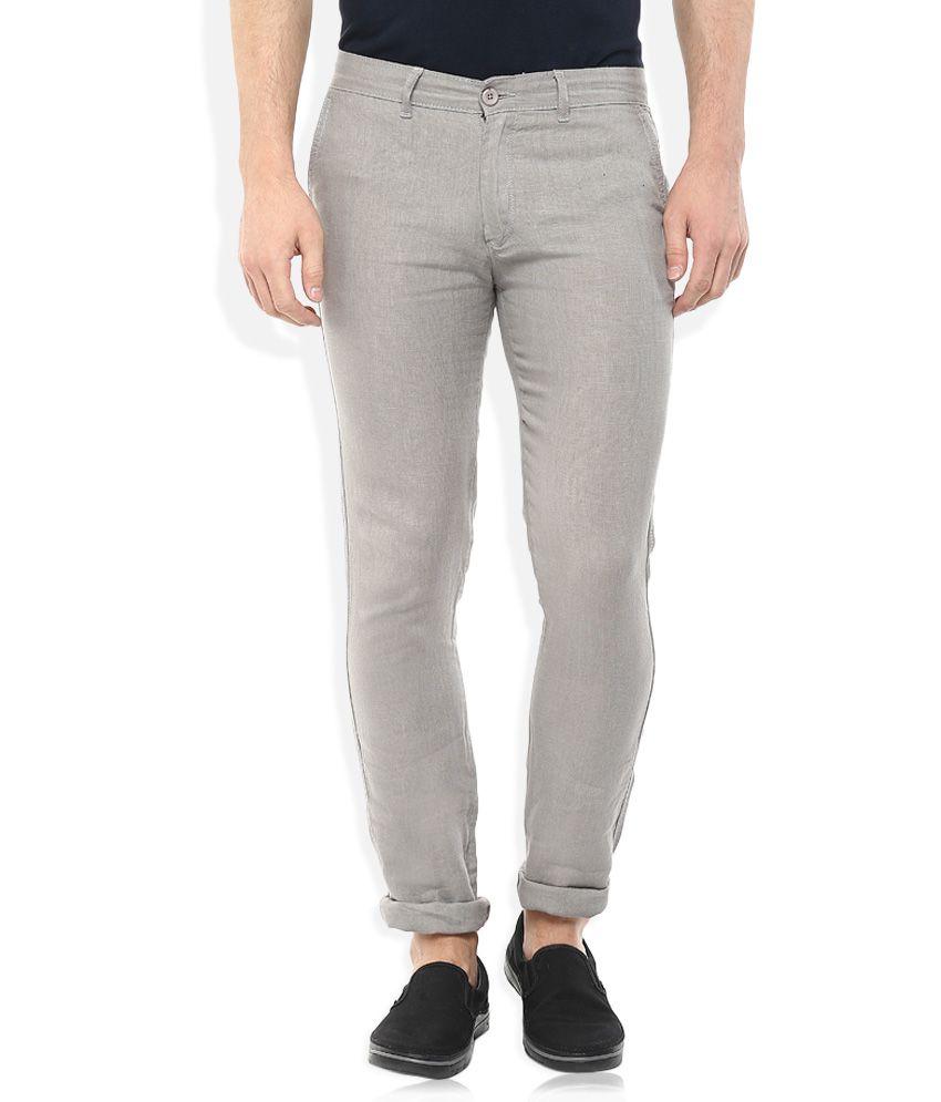 Celio Grey Regular Fit Trousers