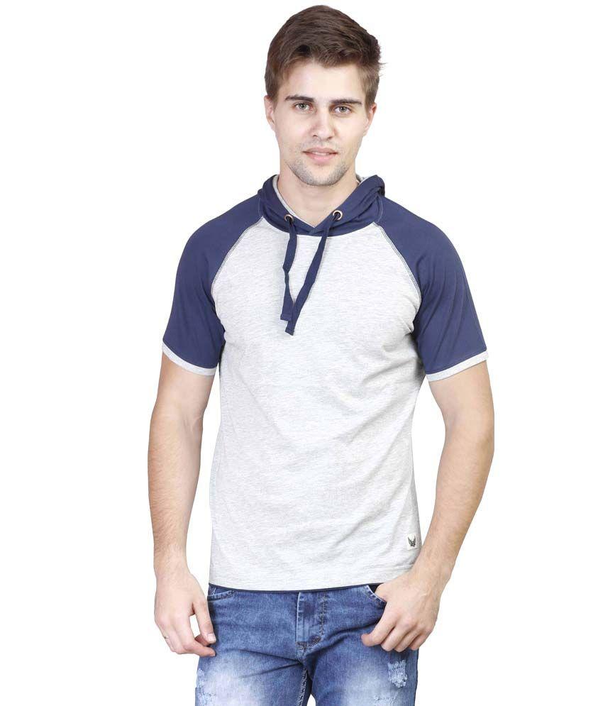 Righardi Grey Hooded T Shirts