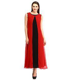 Cottinfab Georgette Cocktail Gowns,Maxi Dress