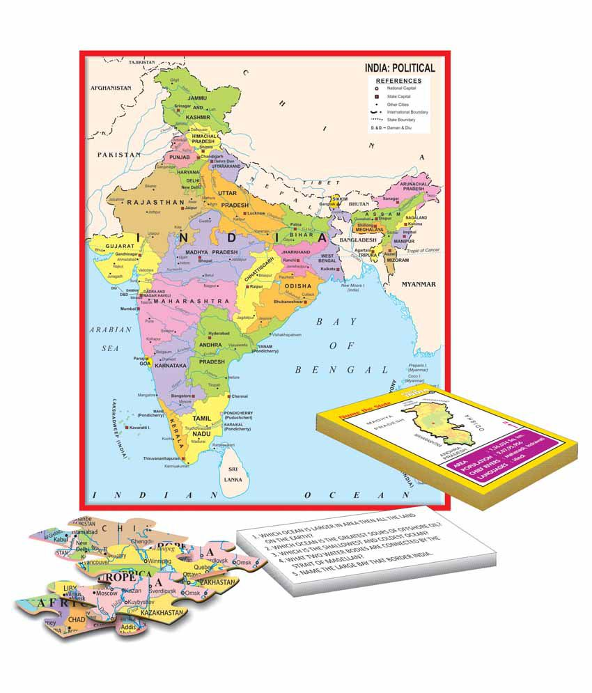 Creatives My Activity Pack India and the World Educational Game