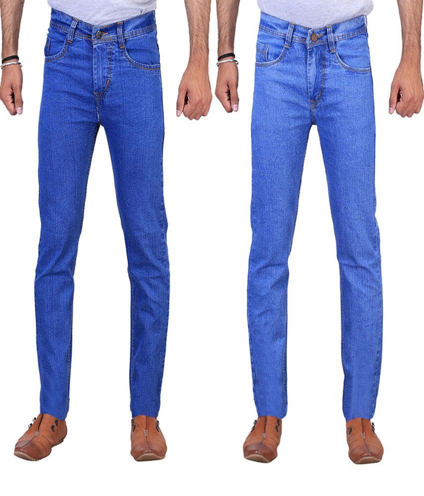 Ilbies Blue Slim Fit Basics Jeans Pack Of 2