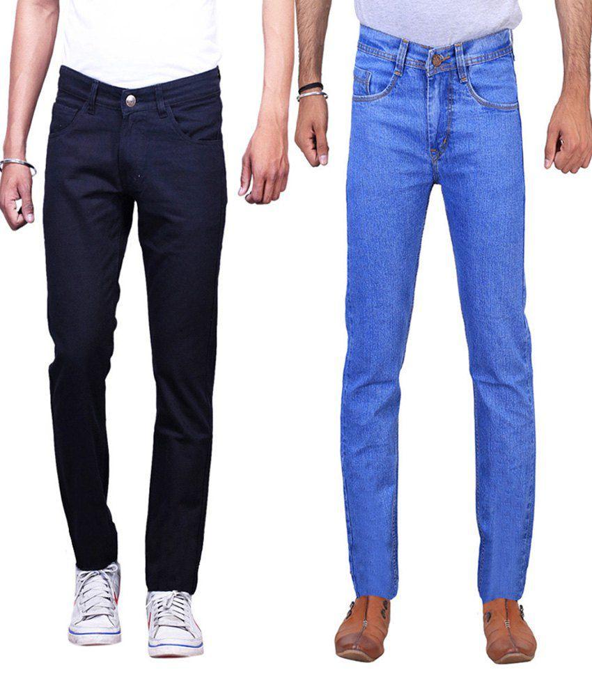 Ilbies Multi Slim Fit Basics Jeans Pack Of 2
