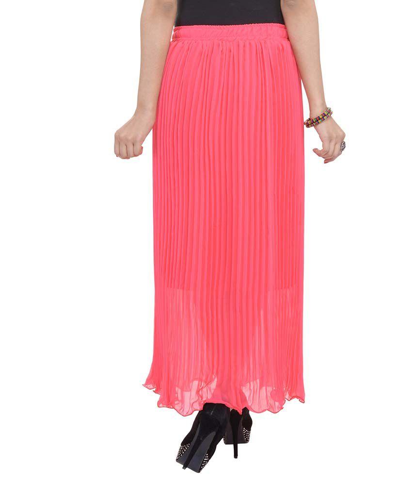 a572effd9b Rajasthani Sarees PeachPuff Chiffon Pleated Skirt Rajasthani Sarees  PeachPuff Chiffon Pleated Skirt