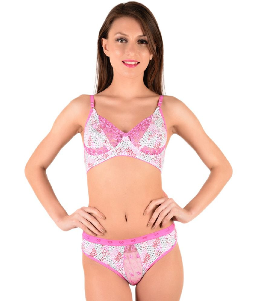 e33bd9a37e Buy Vanila Pink Cotton Bra   Panty Sets Online at Best Prices in India -  Snapdeal