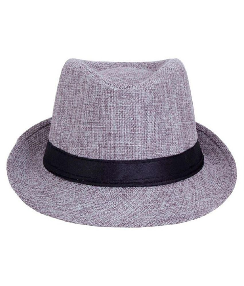 Login Grey Polyesrter Hat for Men