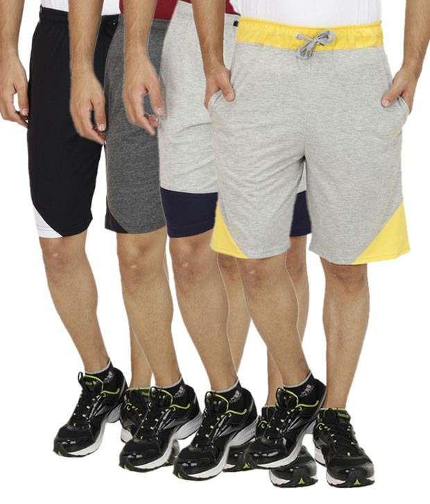 Rakshita Collection Multi Shorts Pack Of 4