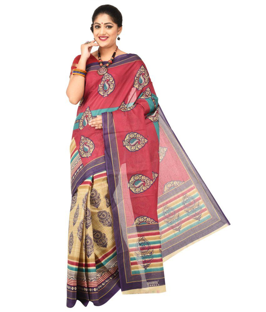 Paridhi Sarees Multi Color Cotton Saree