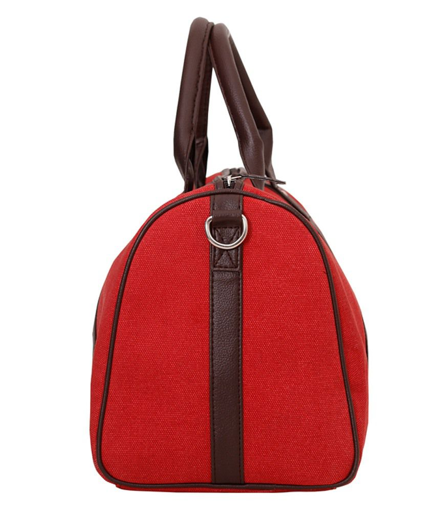 4b5243e855f Rivet Red Canvas Duffle Bag - Buy Rivet Red Canvas Duffle Bag Online ...