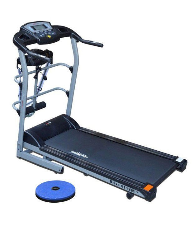 Minimum 40% Off On Treadmills By Snapdeal | Healthgenie Motorized Treadmill 4 in 1 Drive 4112M With A Massager and Twister with Music Speakers, 14 Kmph and 12 Months Warranty @ Rs.26,699