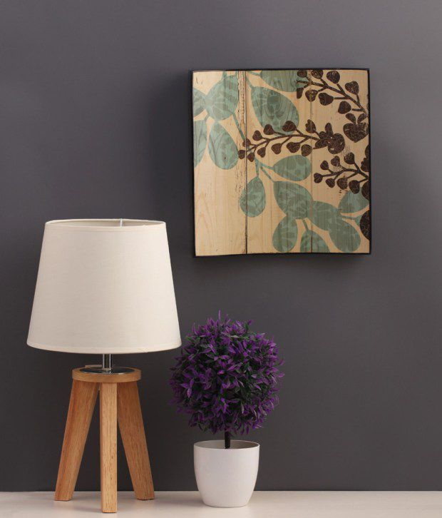 Artista Multicolour Floral Painting with Wooden Frame