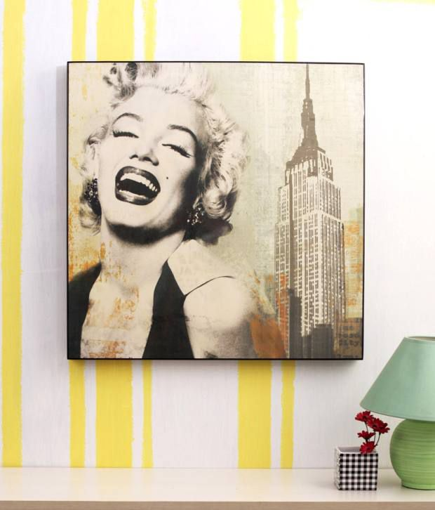 Artista Multicolour Pop Art Painting with Wooden Frame
