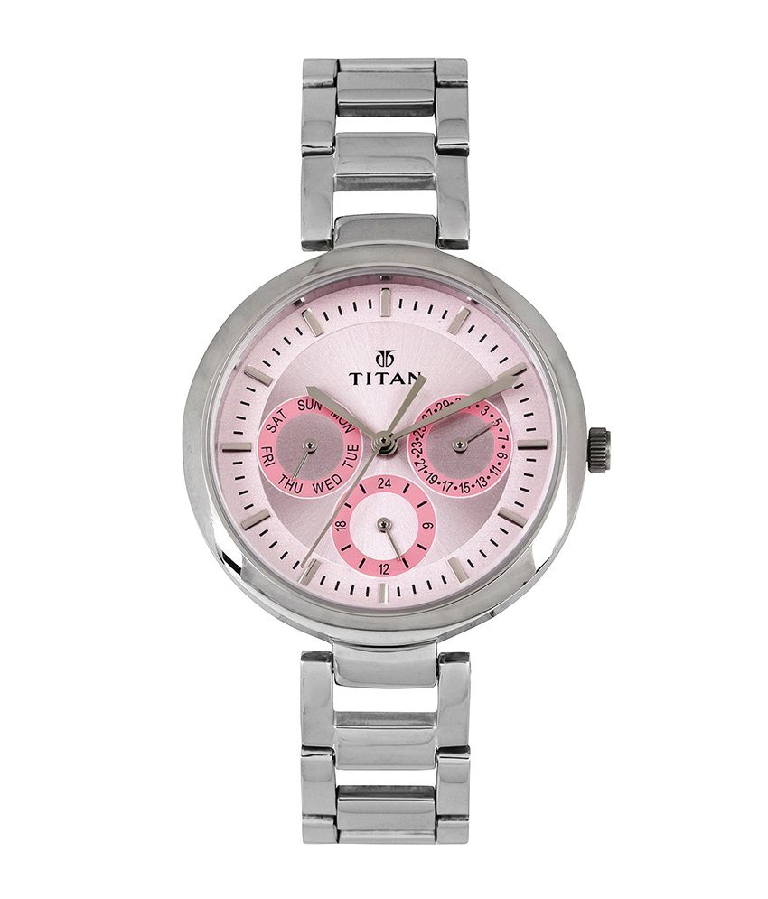 titan ne2480sm05 analogchronograph womens watch price in