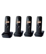 Panasonic 1614 Cordless Landline Phone Black