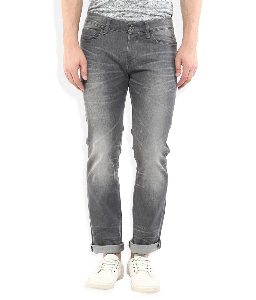 Celio Grey Slim Fit Jeans