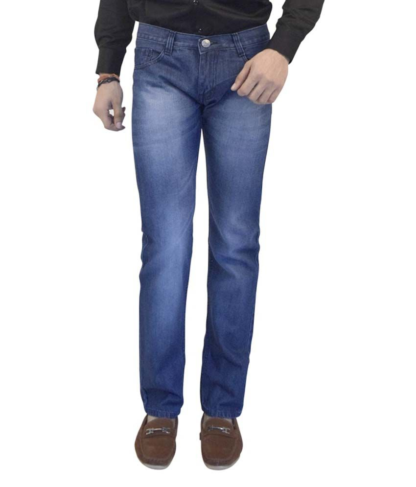 Club Vintage Blue Slim Fit Faded Jeans