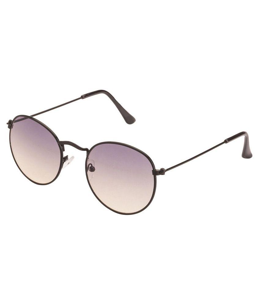 Mask Gray Round Sunglasses