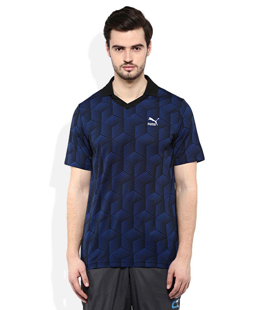 Puma Black Polo Neck T Shirt