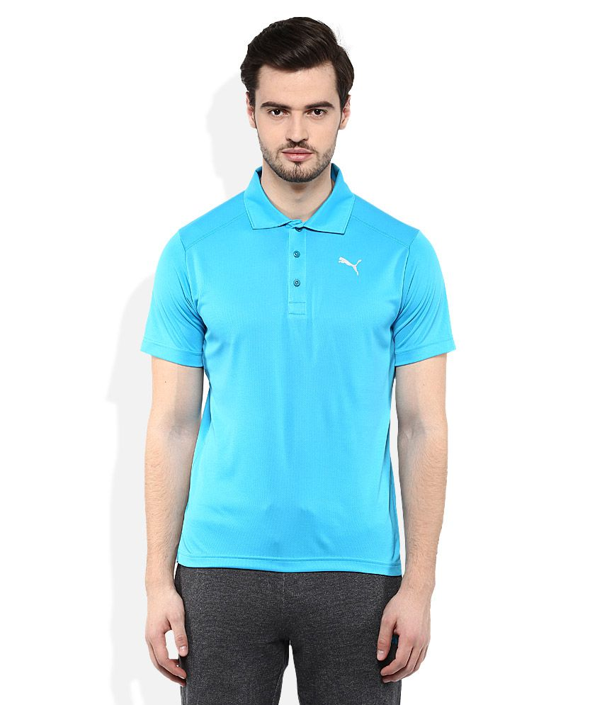 Puma Blue Polo Neck T Shirt