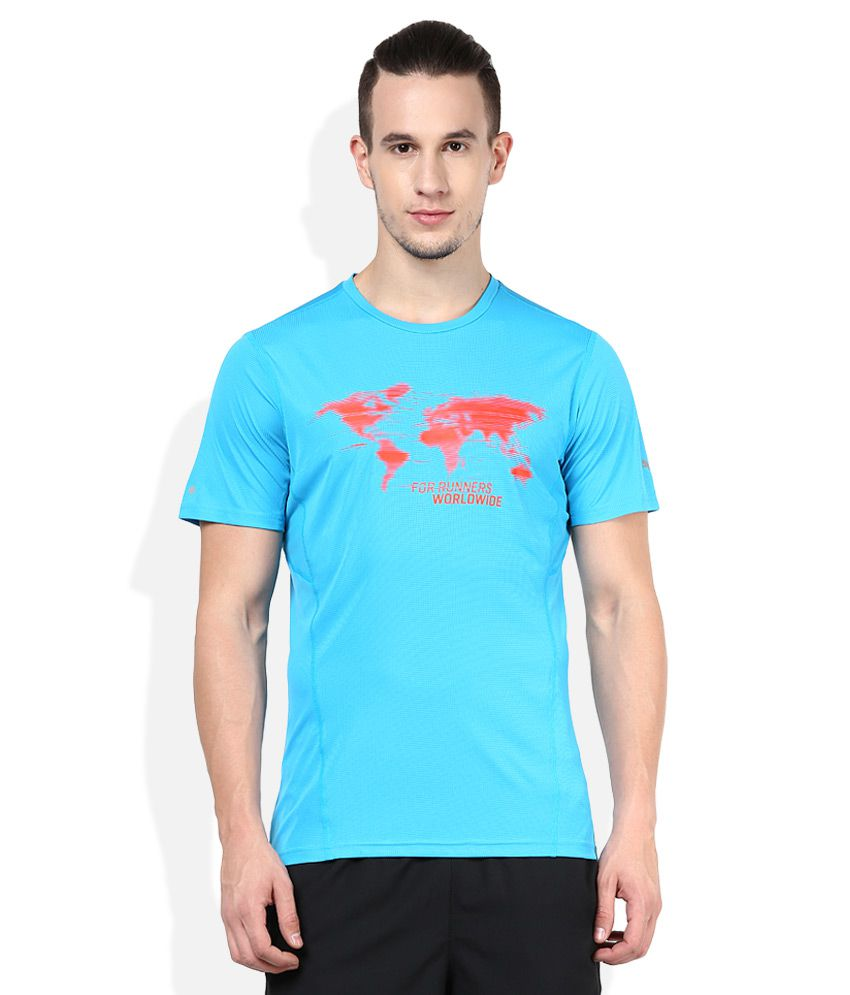Puma Blue Round neck T Shirt