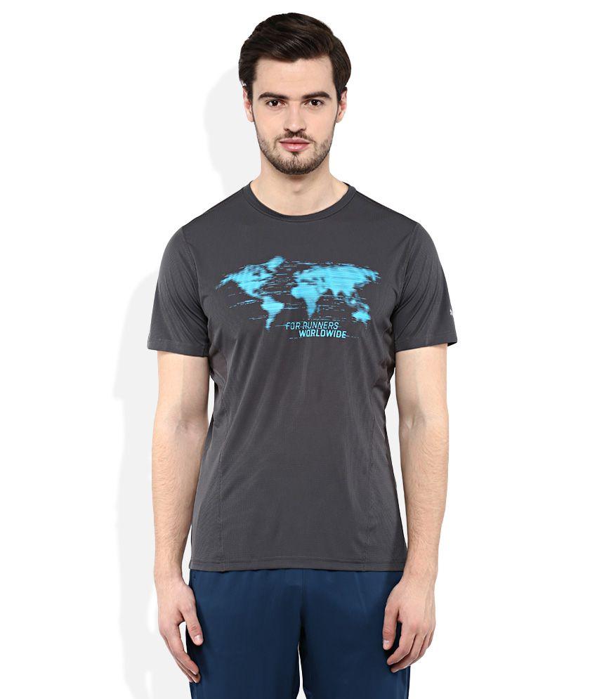 Puma Gray Round neck T Shirt