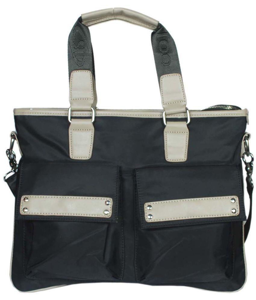 Raeen Plus Black PU Messenger Bag