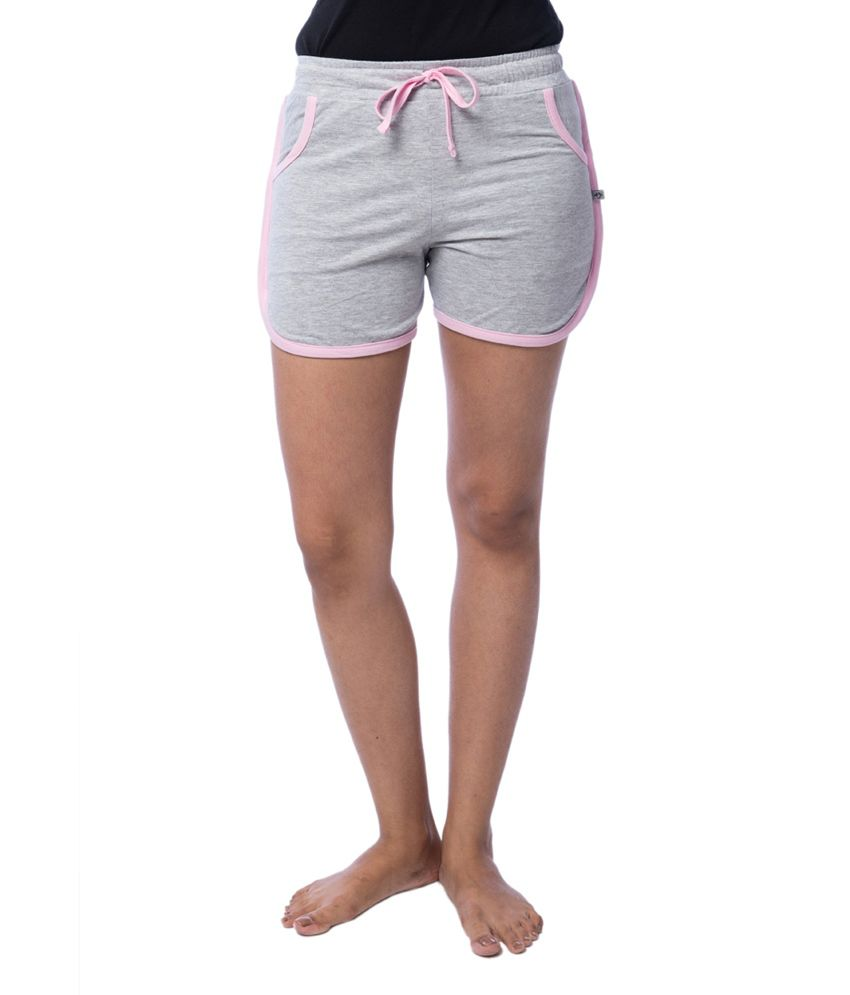 Nite Flite Athletic Cotton Hot Shorts with Light Pink Piping