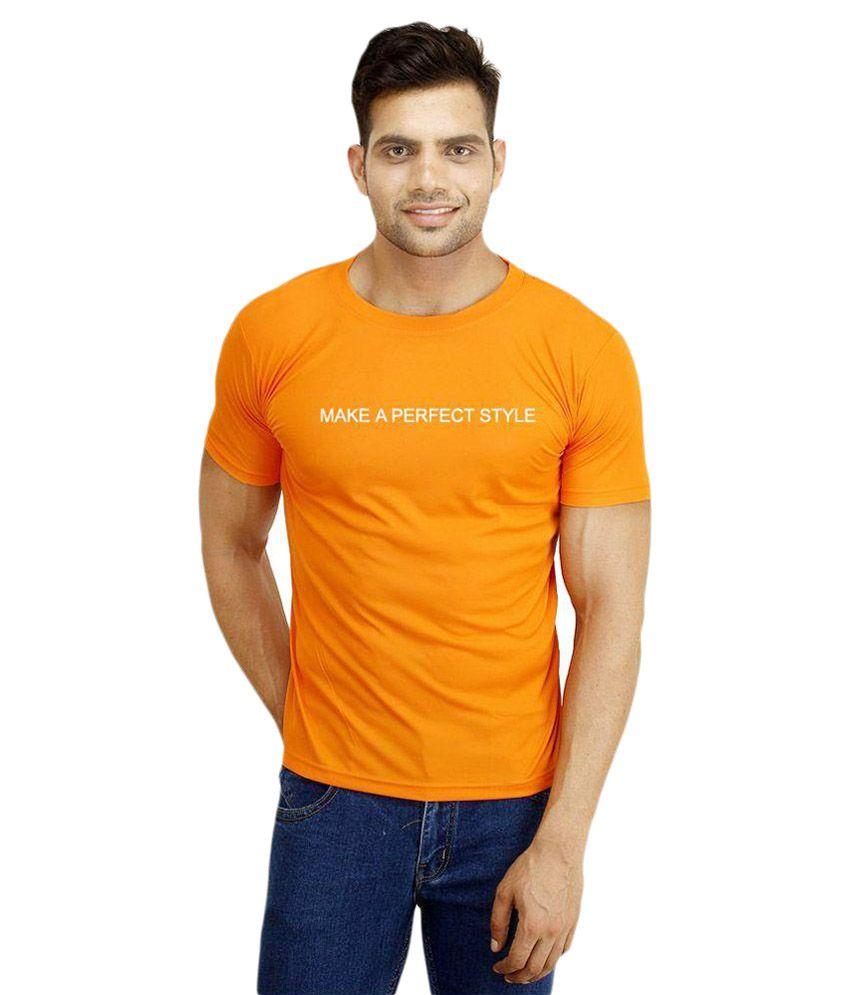 Orko Orange Round T Shirt