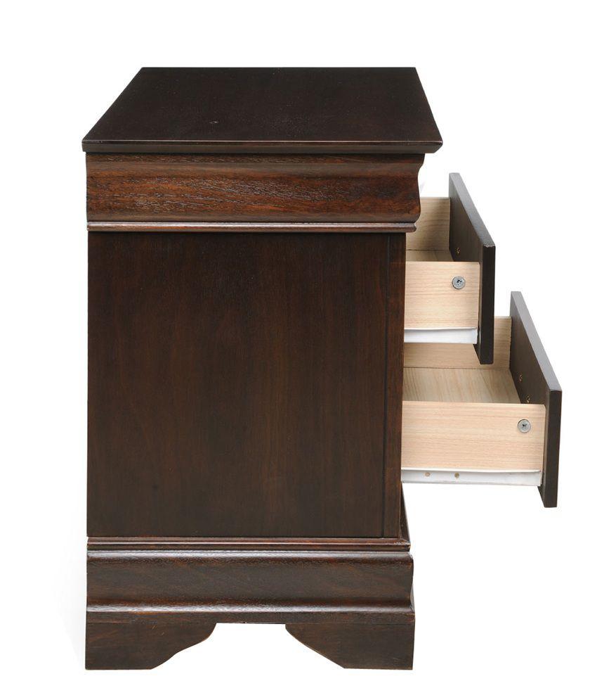 royal oak sydney solid wood bedside table buy royal oak sydney rh snapdeal com