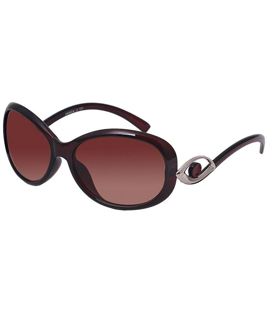 HH Brown Oval Sunglasses