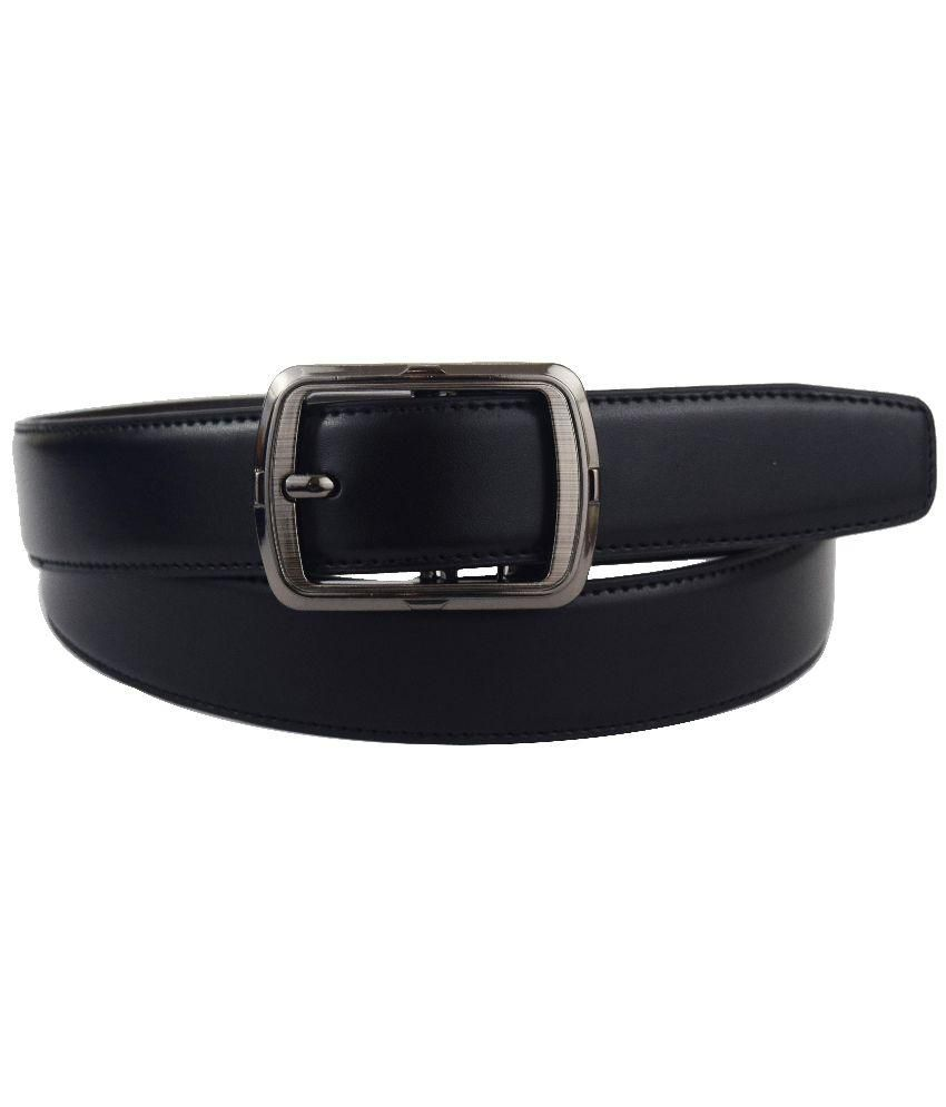Abhinavs Black Leather Belt
