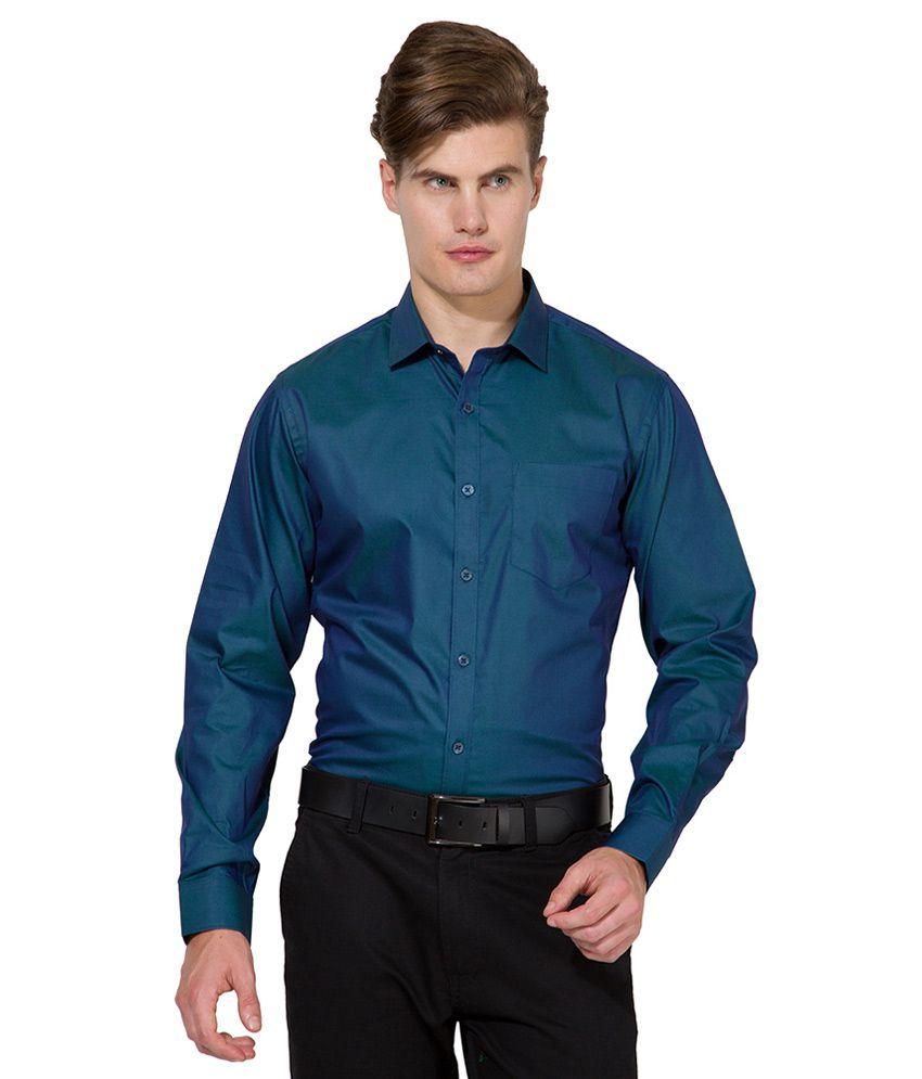 Mark Taylor Green Slim Fit Shirt