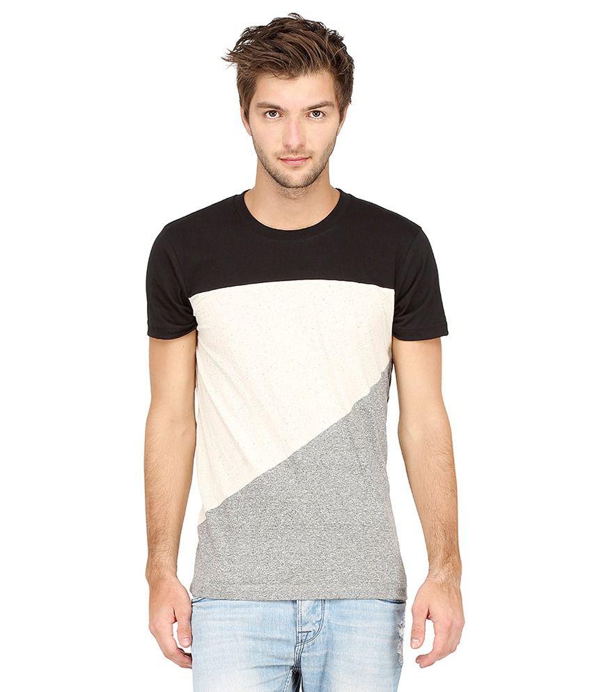 Campus Sutra Multi Round T-Shirt