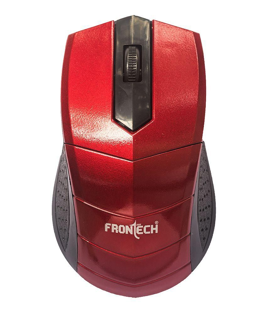 FronTech JIL-3766 USB Wired Optical Mouse (Red)