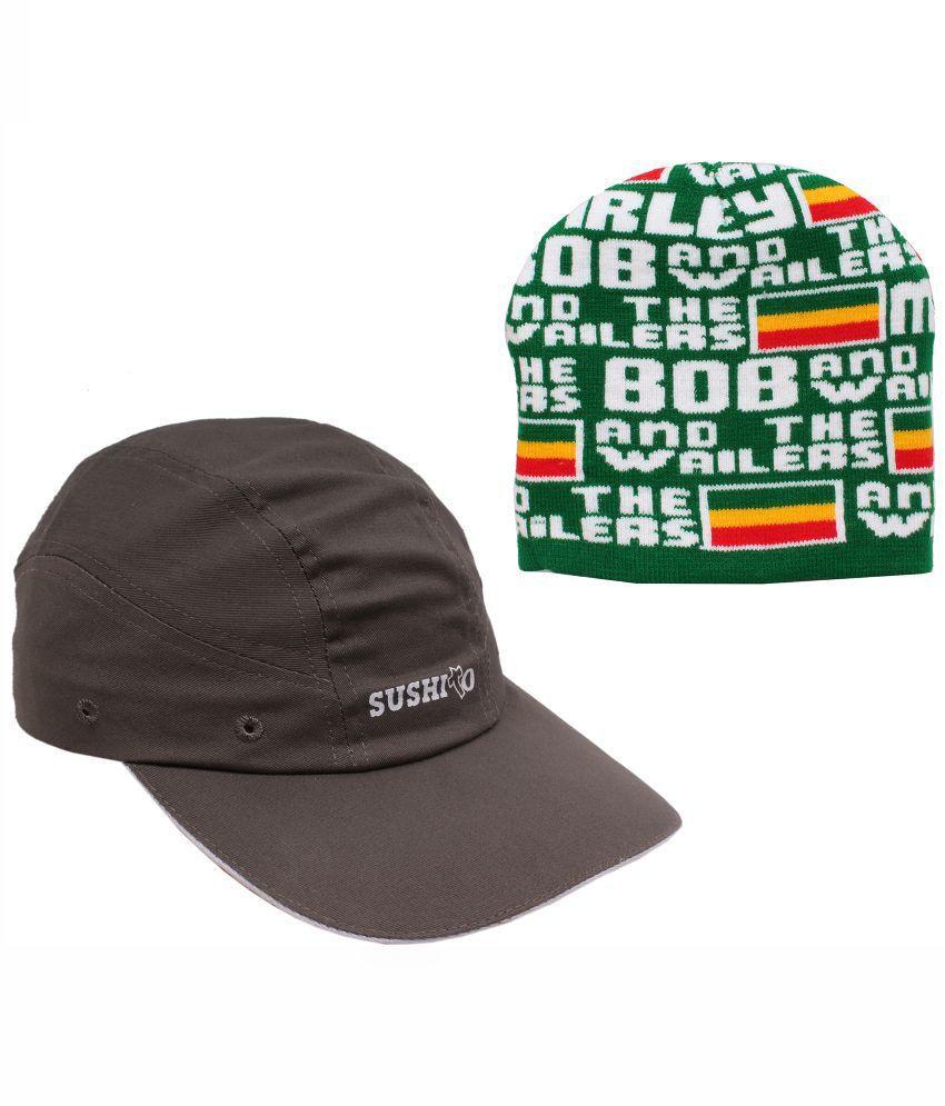 Jstarmart Multicolour Cap for Men - Set of 2