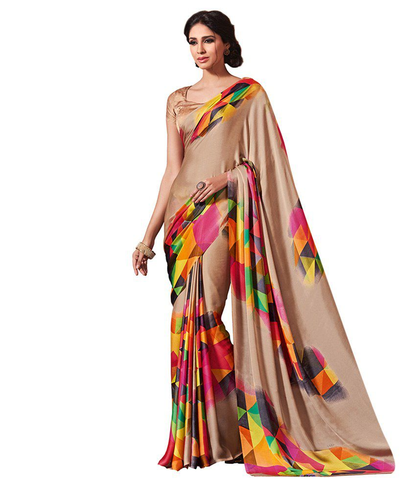 30bc90dc811 Vipul Saree Multi Color Crepe Saree - Buy Vipul Saree Multi Color Crepe  Saree Online at Low Price - Snapdeal.com