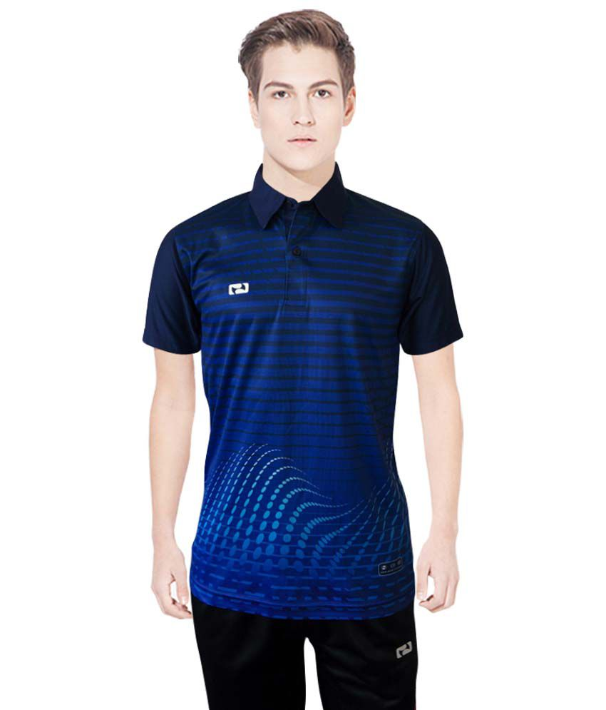 NBS Blue Polyester Sports Jersey For Men