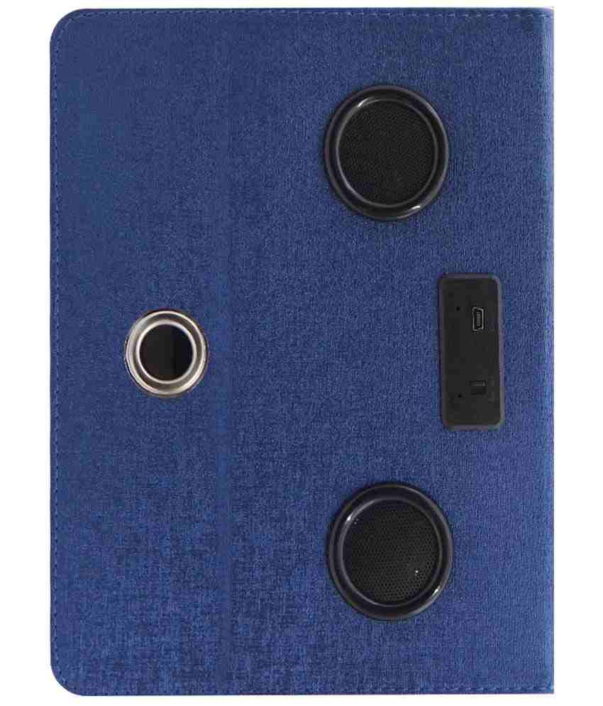 ACM Rotating Music Speaker And Cover For Datawind Ubislate 7cz Case - Blue