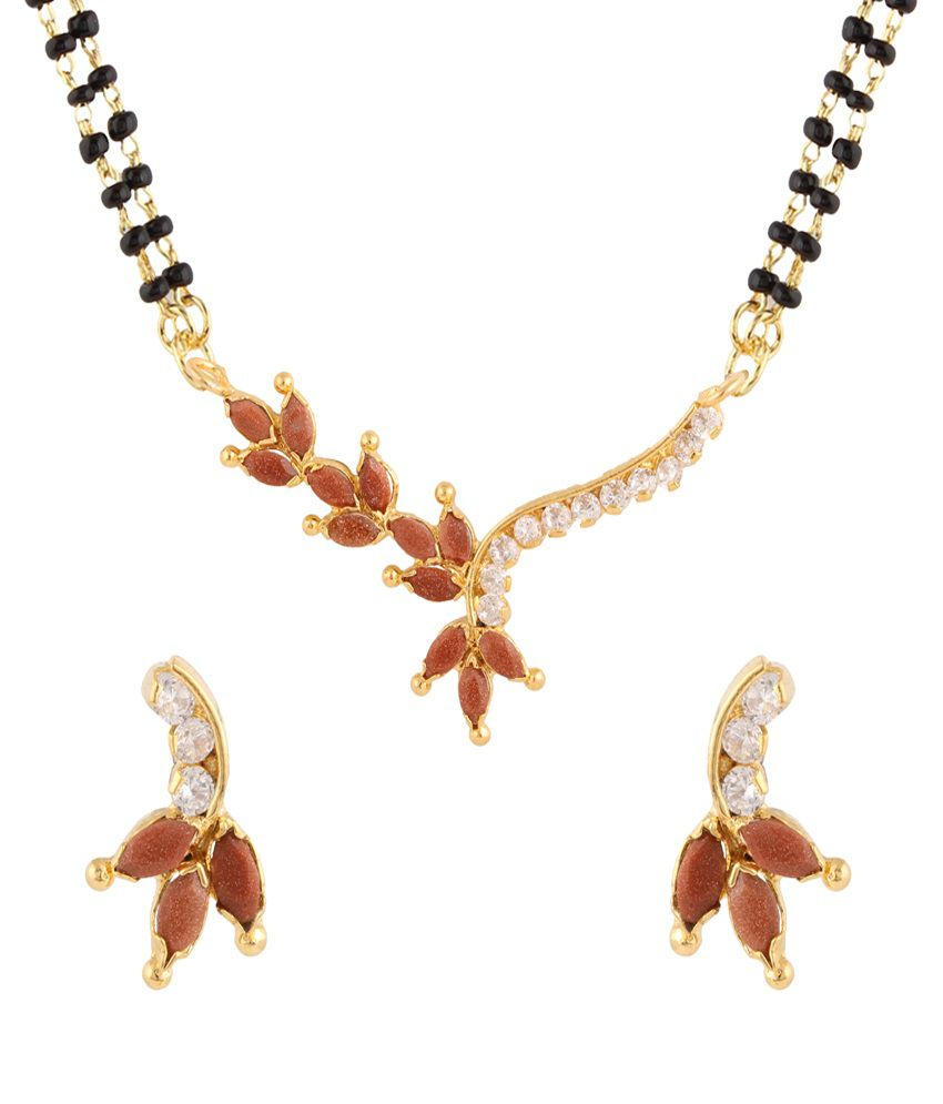 Parijaat Multicolour Alloy Mangalsutra Set