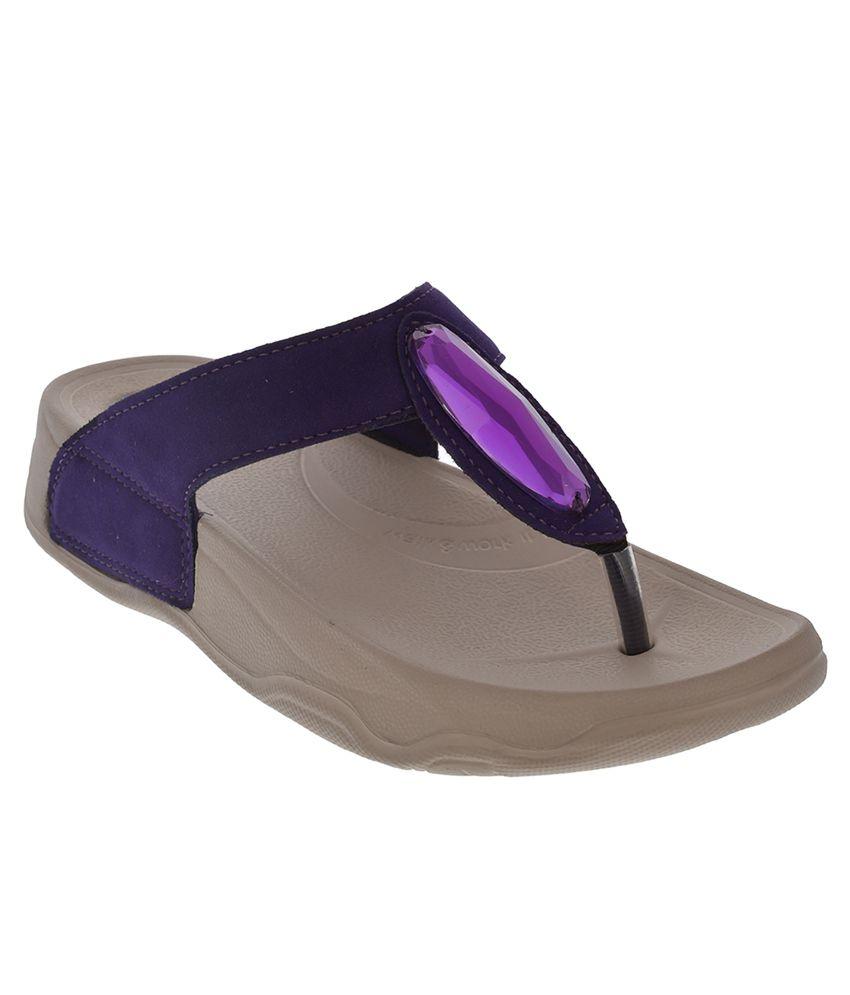 Pure Purple Platforms Heels