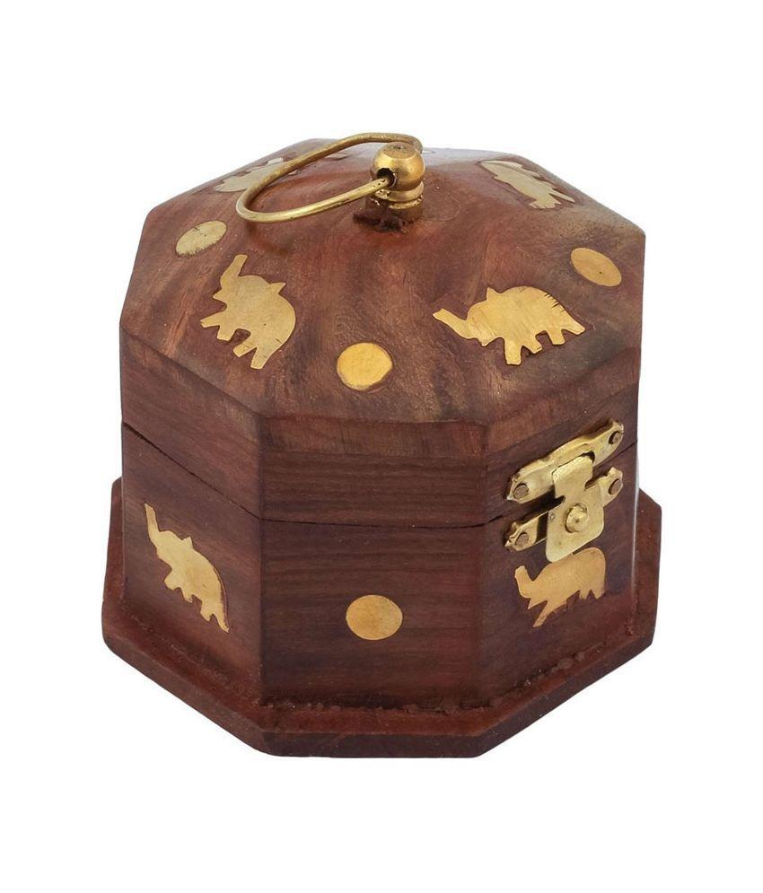 Zitter Wooden Jewellery Box Small 4 inch Diameter