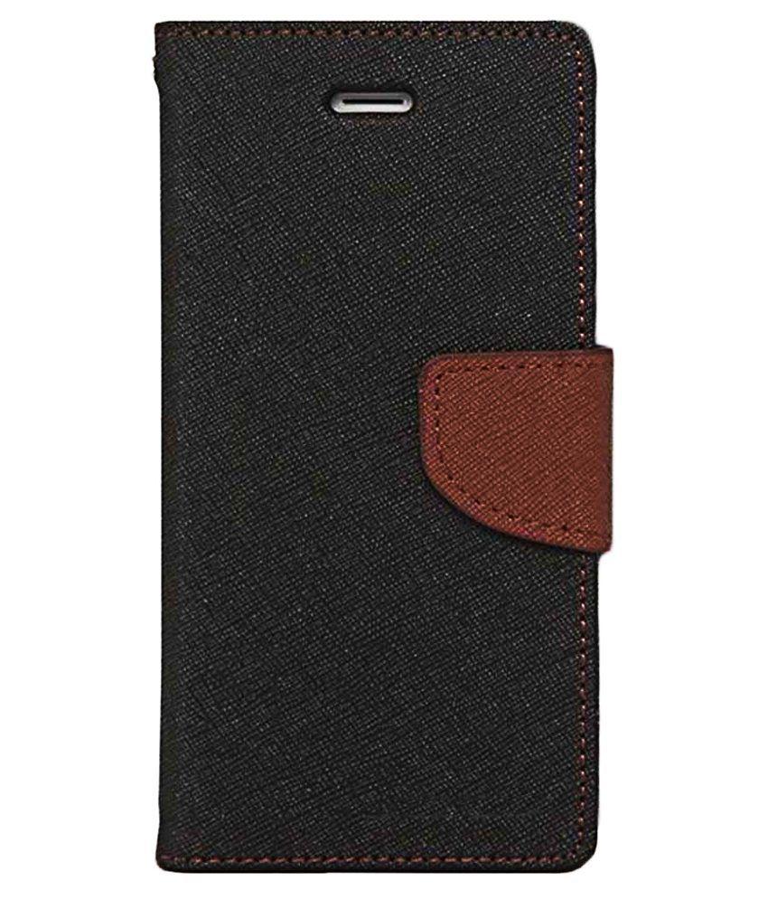 Brewingq Flip Cover For Samsung Galaxy J1 Ace-Black